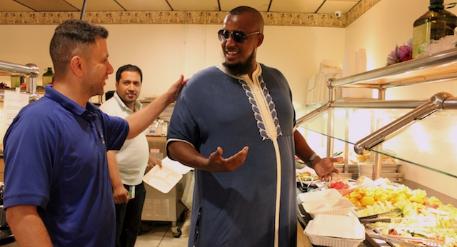 Abdi Nasir (right), pictured at Marhaba Grill, says fasting during Ramadan cultivates patience and thankfulness.