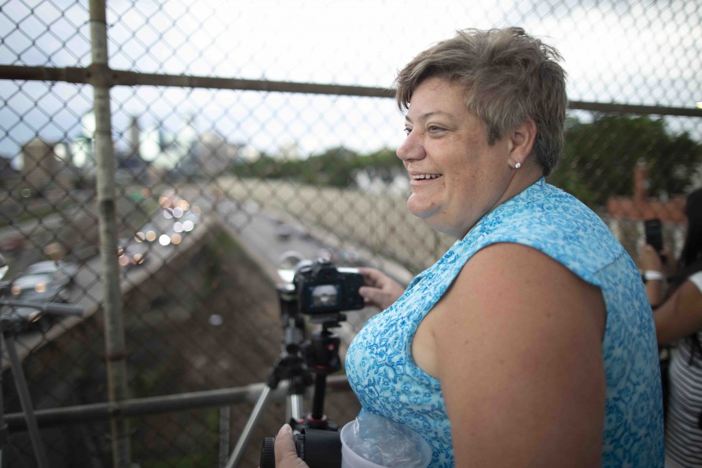 """I started [coming to the bridge] because I started taking photography classes through Minneapolis Community (Education) and this was the first place we went. It's a good place to come, there's various things to do,"" said Lia Huemoeller, a photographer who regularly visited the 24th Street pedestrian bridge."