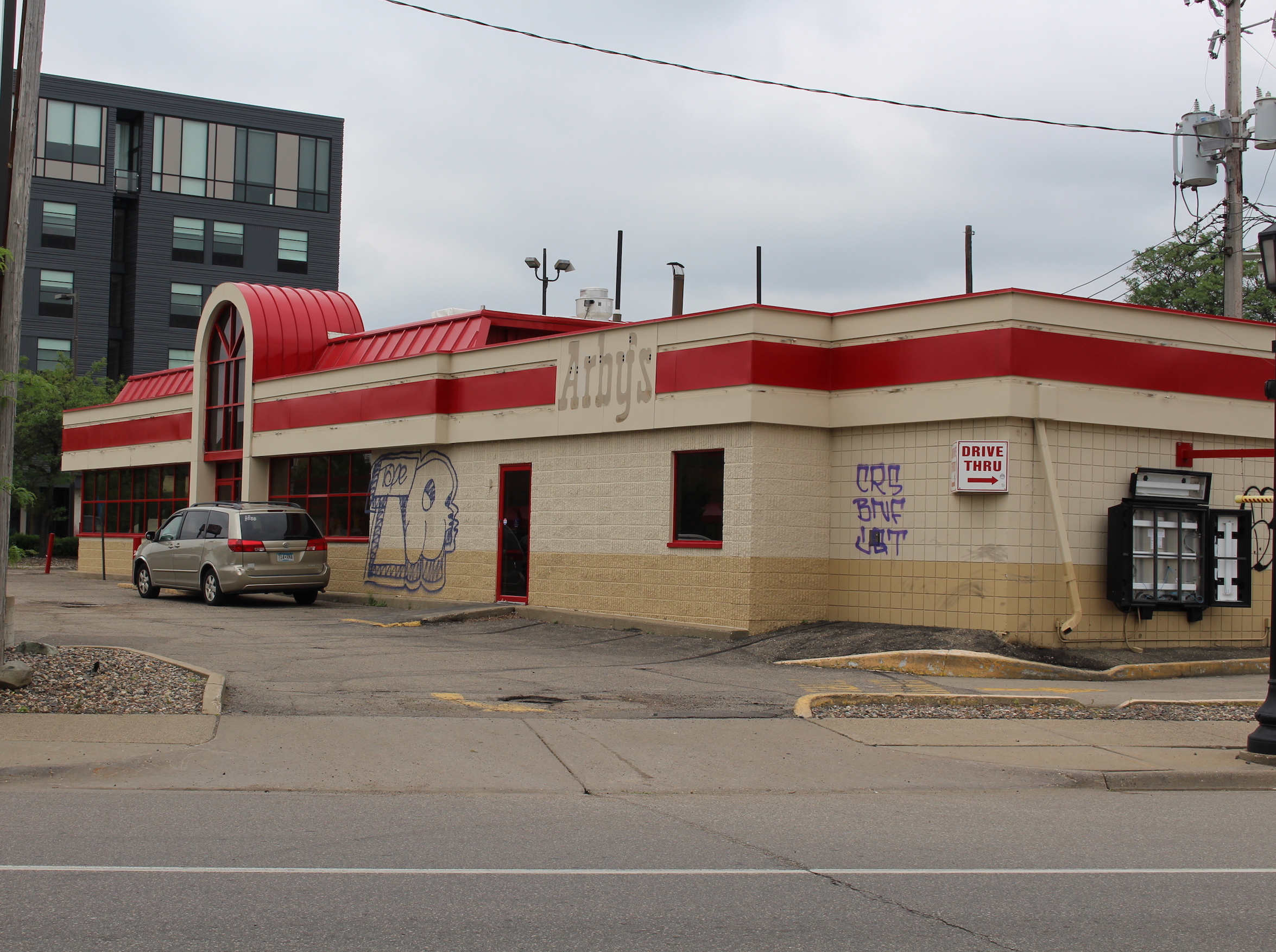 Arby's operated at 1116 W. Lake St. for 47 years before closing this past winter. Reuter Walton plans to demolish the restaurant and build a mixed-use apartment building on the site.