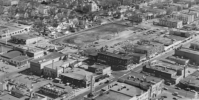 Calhoun Square site aerial from Ray Harris