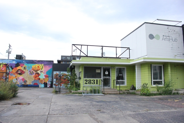 The company taking over the Intermedia Arts property is tentatively considering a coffeehouse in the rear building that fronts Abbott Avenue.