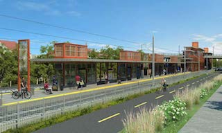 Improve the land surrounding present and future METRO stations - Image courtesy Metropolitan Council