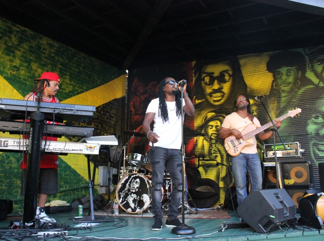 """Singing Tony performs at Reggae Happy Hour, an all-ages weekly happy hour in the """"Back Yaad."""""""