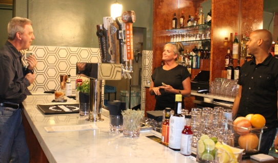 The Parkway Theater's new bar offers craft beer and cocktails created by Tattersall Distilling.