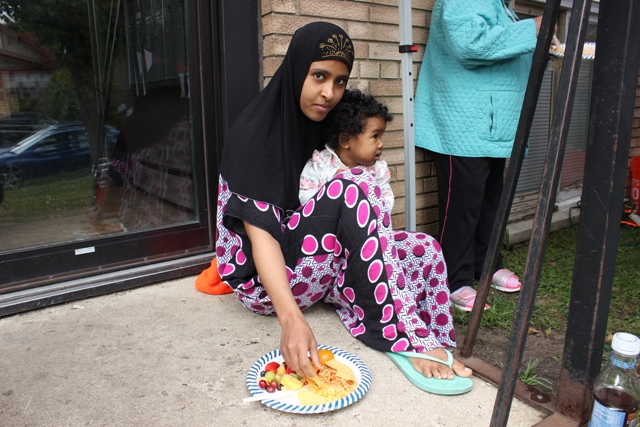A woman who declined to share her name at the 22nd Avenue protest said she will look for a new home with better heat for her child.
