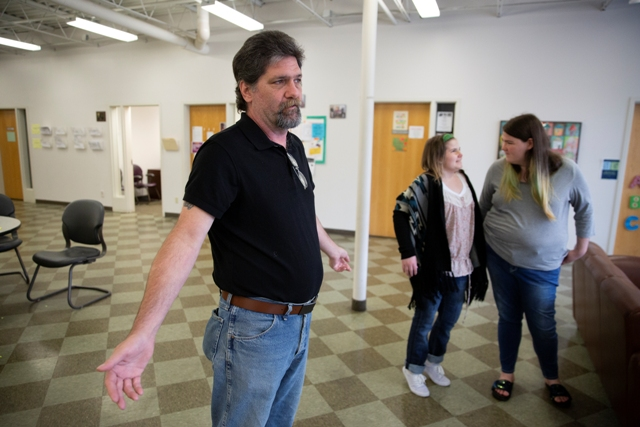 James Calhoun and his daughters have assistance from Families Moving Forward, a program of Beacon. Photo by Chris Juhn