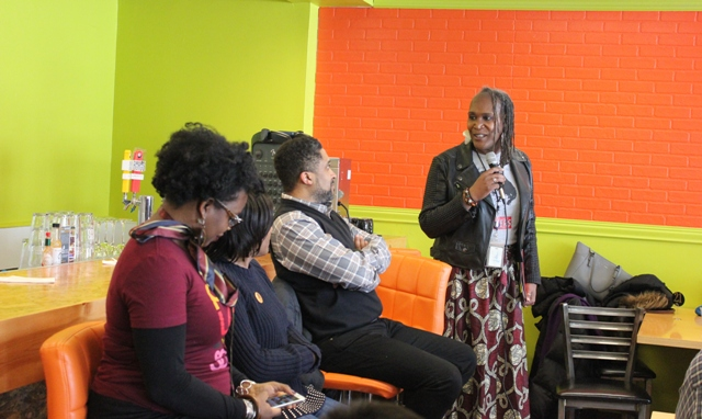 Council Vice President Andrea Jenkins hosts a February panel discussion celebrating black history at Funky Grits, now open at 38th & Chicago.