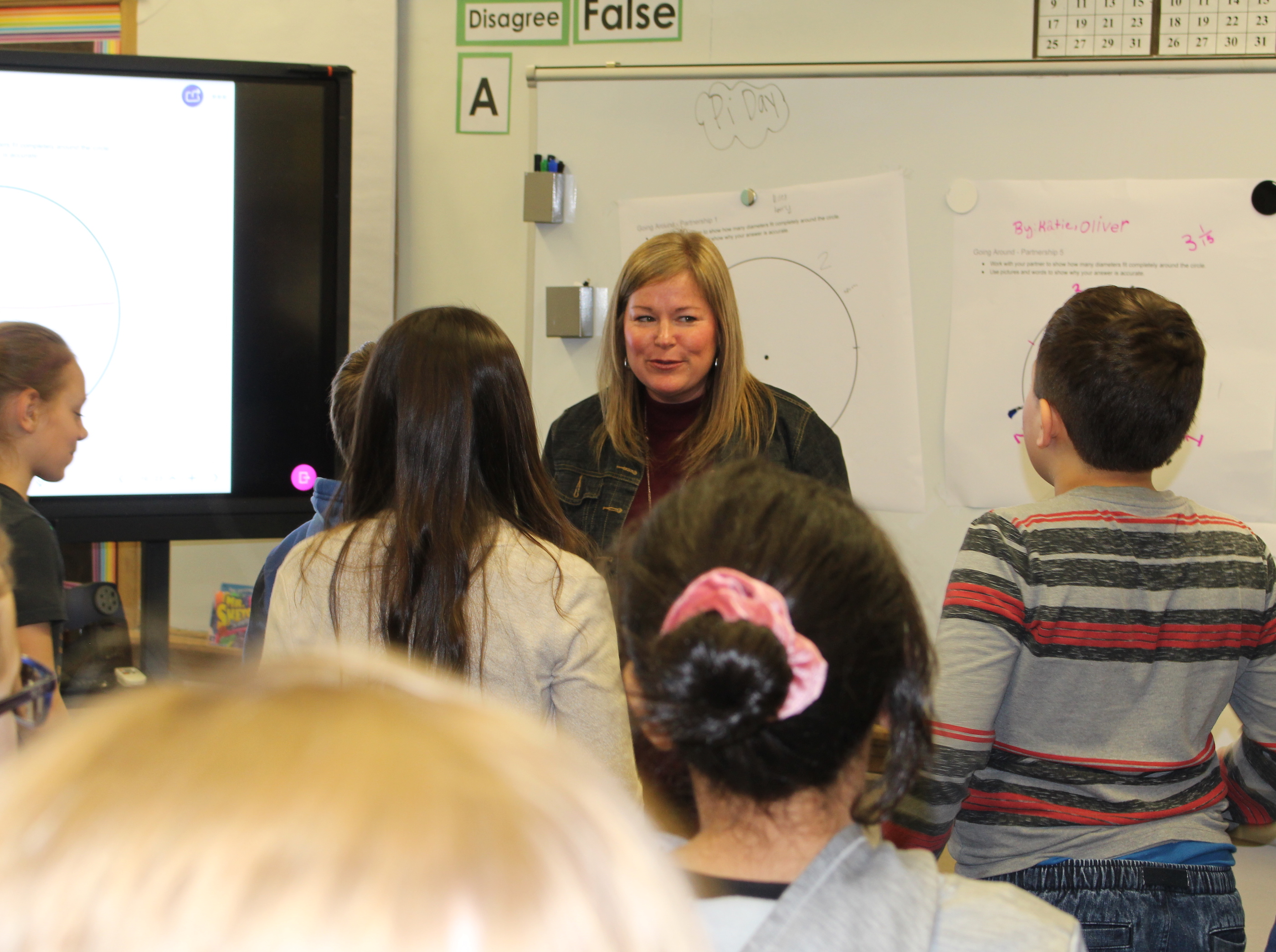 Rivard-Johnson leads her class in a focusing exercise during a recent lesson. Photo by Nate Gotlieb