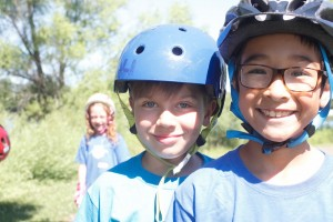 Sebastian Ruf and Henry Franzen ready for action at Loppet Adventure Camp.