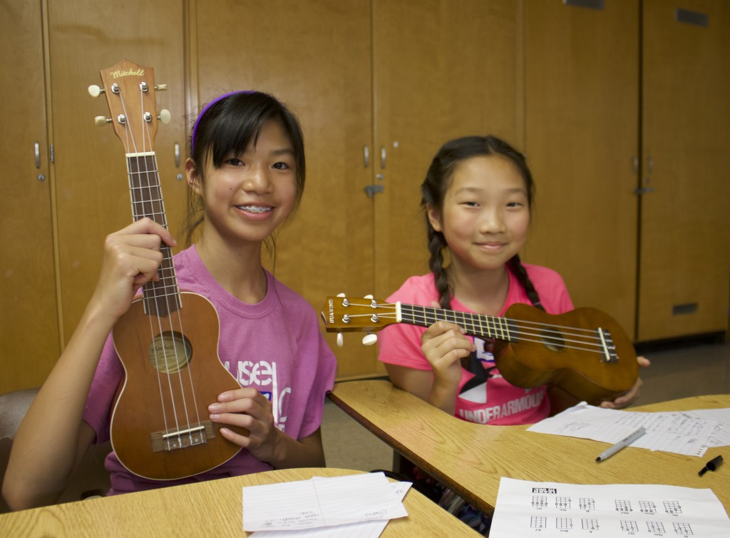 Students in the Southwest Super Summer Program can take a class in which they learn how to play ukulele. Photo courtesy Minneapolis Public Schools