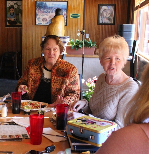 """I was scared to death to walk in the door,"" says Diana Vanasse-Hyatt (l), recalling her first visit to Vision Loss Resources. Pictured with friend Diane O'Shaughnessy (r), Vanasse-Hyatt previously taught middle school in Duluth until she struggled to see the paperwork. She'd been single for 30 years, and expected to stay that way. Then she heard her future husband, Allen, answer a question in a class. ""His voice was just magnificent,"" she said. ""Just thinking about it gives me goosebumps. … I never thought I would feel that again."""