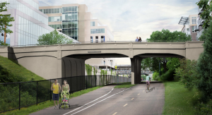 Fremont Bridge rendering