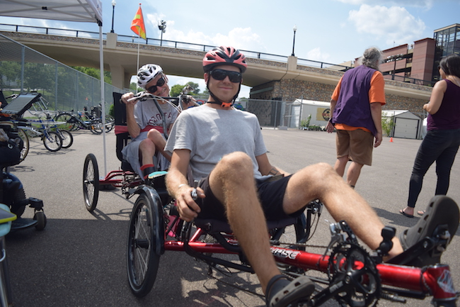 Twin Cities Adaptive Cycling participant