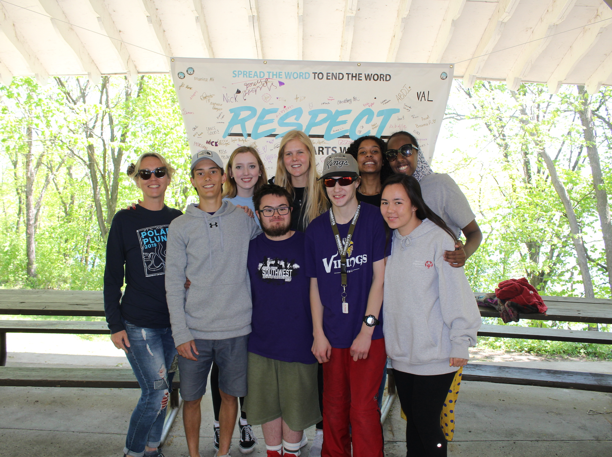 The unified club's leadership board (from left to right): Heidi Carsello, Gabe Van De Walker, Ellie Pfeifer, Oliver Herfindal, Olivia Youngdahl, Robert Nordgaard, Ophelia Washington, Morgan Ellingson and Shukri Ahmed. Not pictured: Michael Grace, Abdille Dahir, Lucy Kegley and Liban Mohamed.