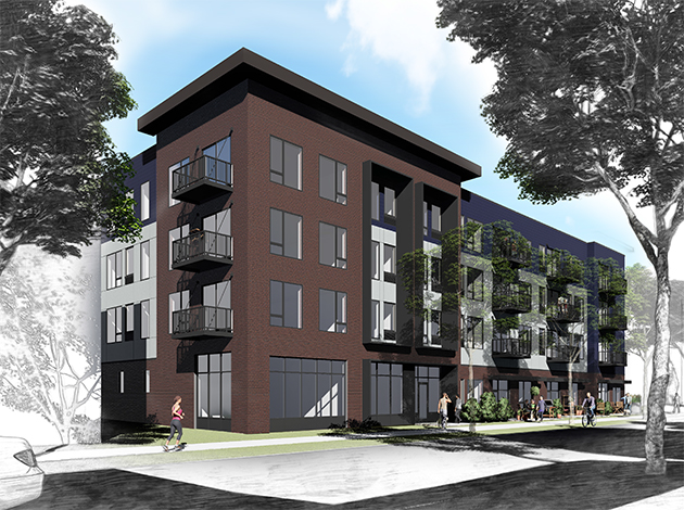 Plans for this building on Girard Avenue between 32nd and 33rd streets will be presented to the South Uptown neighborhood's land use committee at 7 p.m. on June 26 at Bryant Square Park. Submitted image