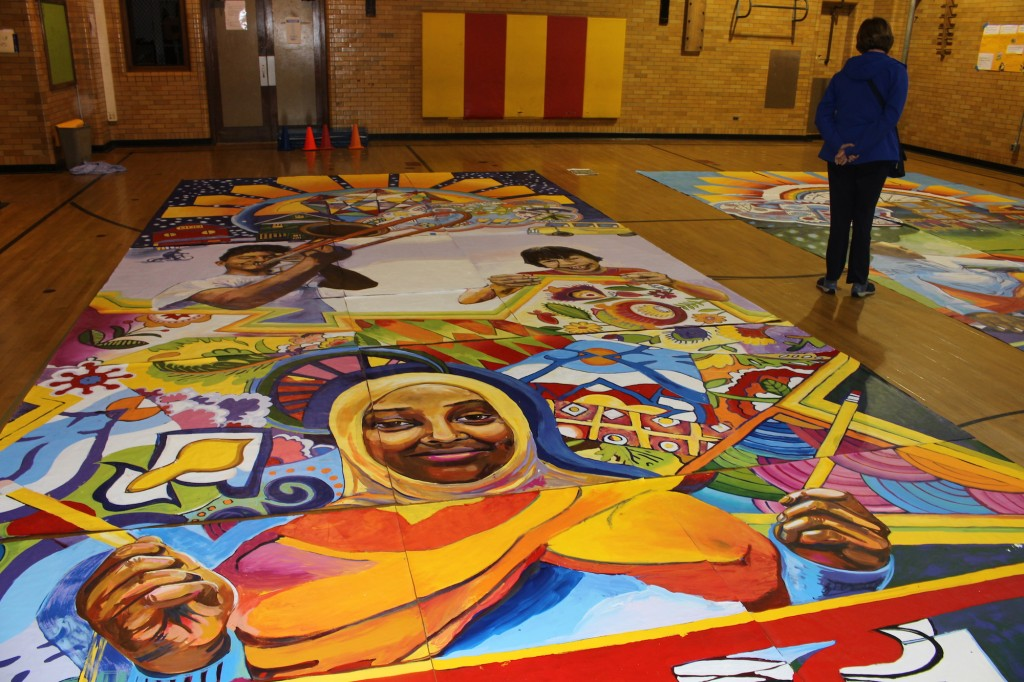 Justice Page Middle School mural
