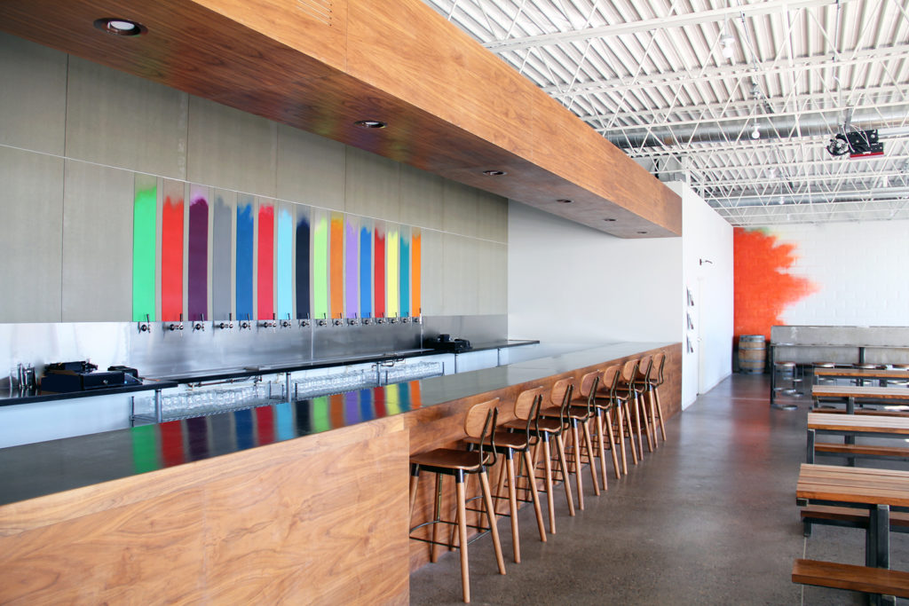 Wittkamper designed the interior spaces of Windom's Wild Mind Artisan Ales.