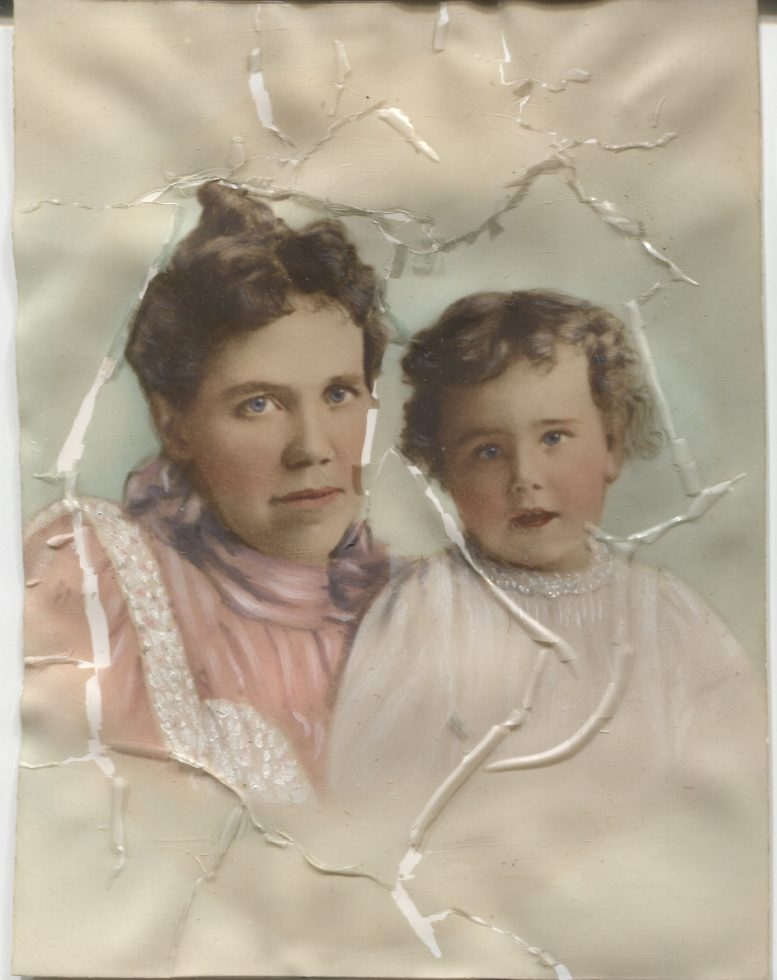 Ella Pendergast and her son Raymond