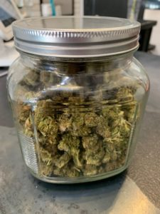 A jar of hemp.
