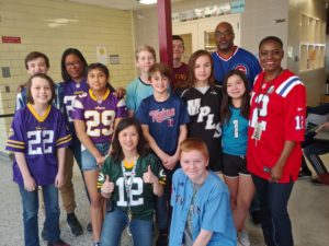 Anthony Middle School principal Mai Chang Vue on jersey day