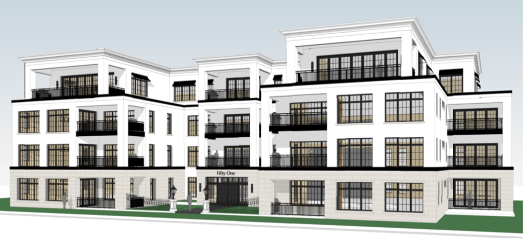 Plans call for a 17-unit, four story condo building at 51st & France.