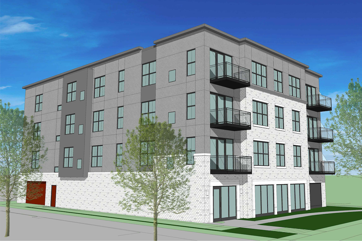 proposed 23-unit apartment building
