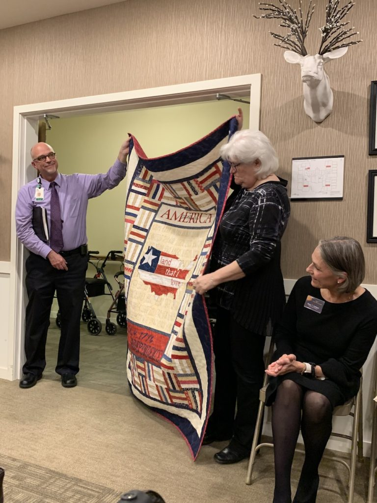 Presentation of quilts
