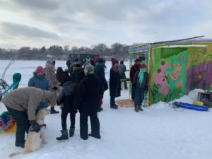 Opening day Art Shanty Projects