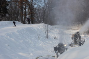 Cross country skiers hit the trails near The Trailhead