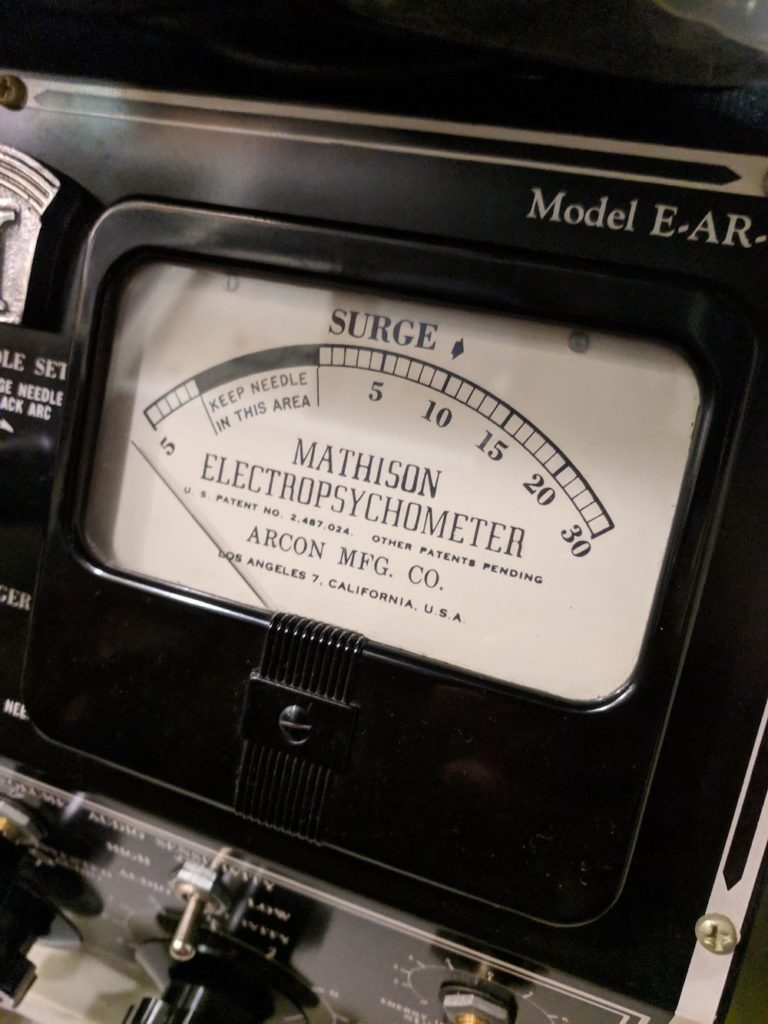 Electropsychometer, made around 1955
