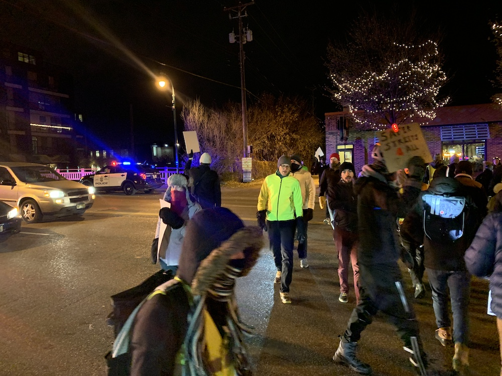 Safe street activists crossed Lyndale Avenue at 29th Street