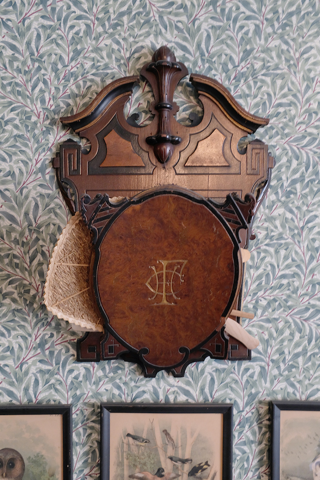 Victorian wall pocket