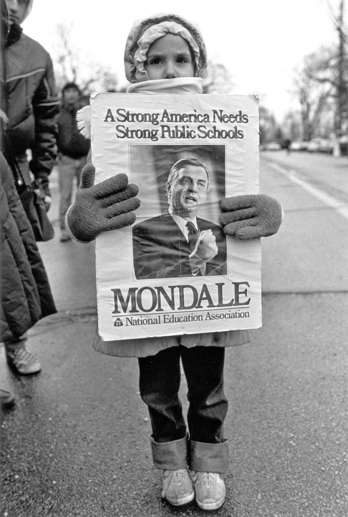 Child, Mondale Rally, Waukegan, Illinois, 1984
