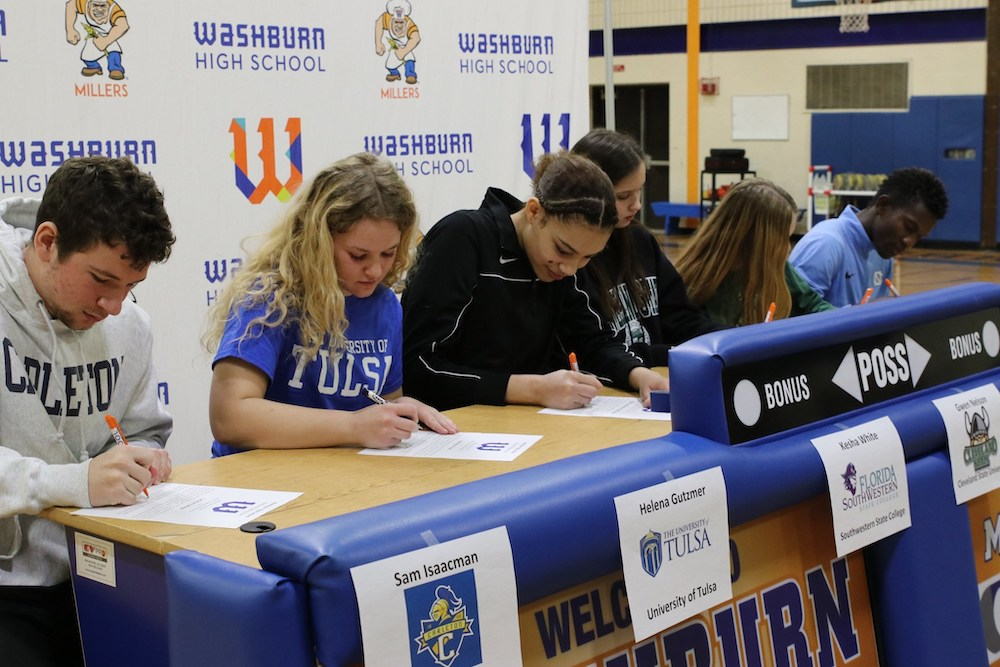 Washburn High School signees