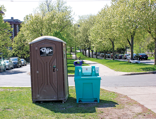 portable toilet and handwashing station