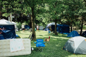 Encampment in Lyndale Farmstead Park