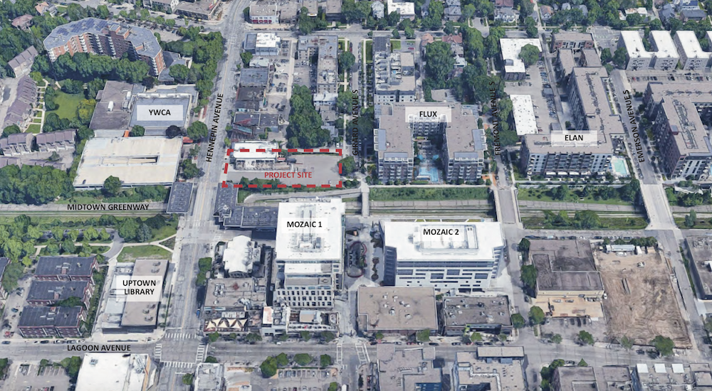 location of proposed development