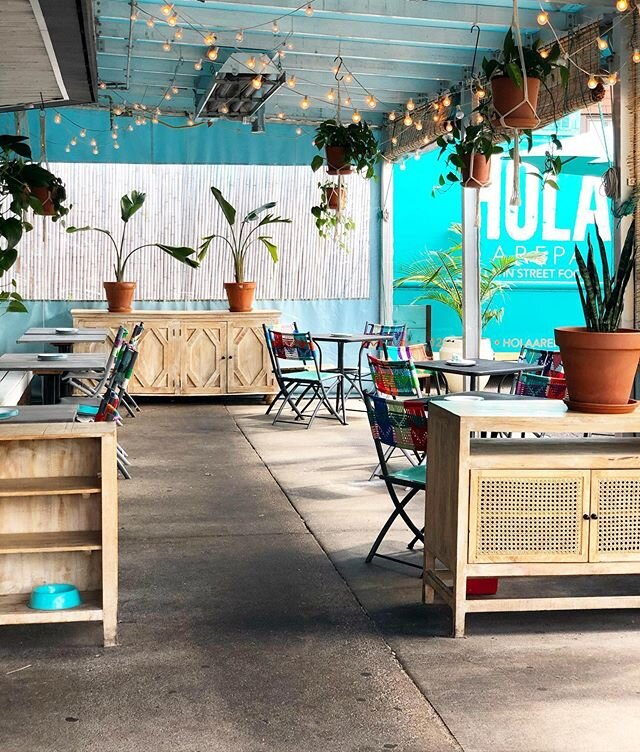 Socially distanced dining is available at Hola Arepa.