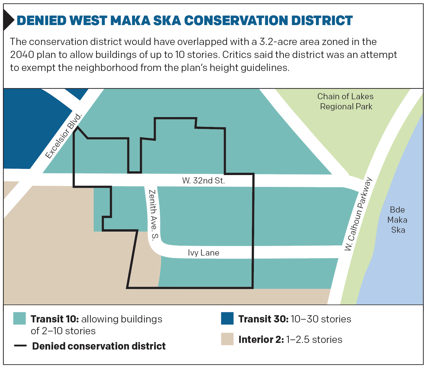 DENIED WEST MAKA SKA CONSERVATION DISTRICT