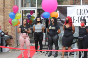 grand reopening of her beauty boutique Tweak the Glam