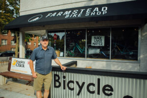 Greg Neis, co-owner of Farmstead Bike Shop