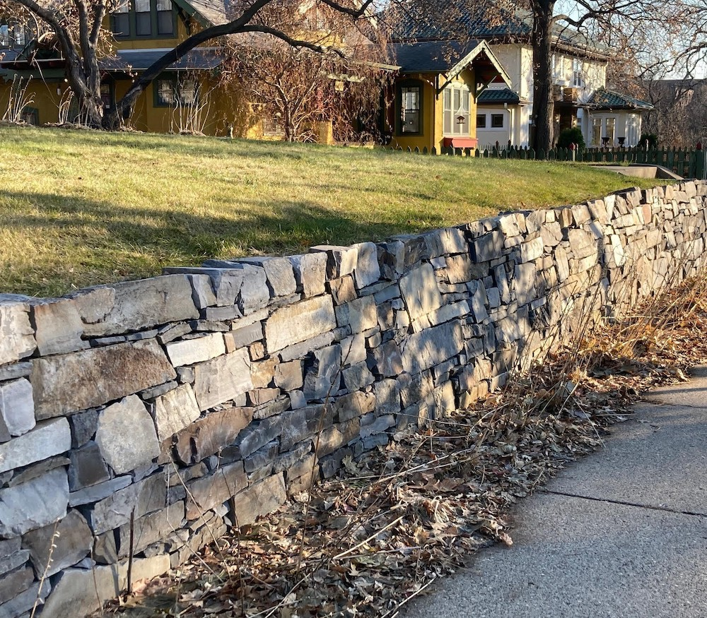 landscape wall at 5125 Lyndale Ave. S.